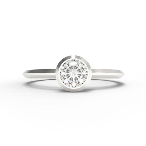 """The Minimalist"" - 1/4ct Bezel Set Ring"
