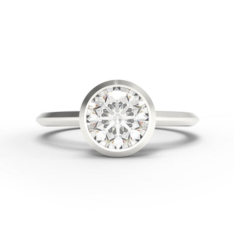 """The Minimalist"" - 1/2ct Bezel Set Ring"