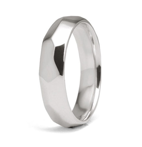 """Faceted"" - 5mm Comfort-Fit Band"