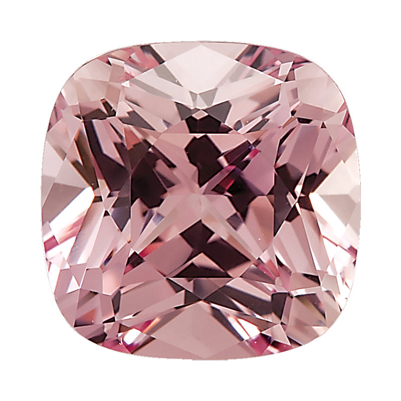 """Champagne Pink"" Lab Created Sapphire - Antique Square"