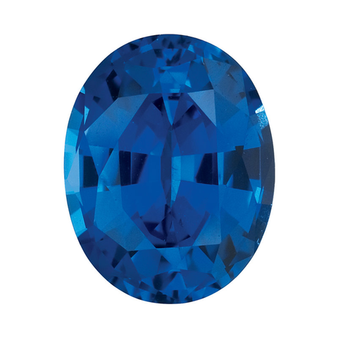 """Blue Sapphire"" Lab Created Oval"