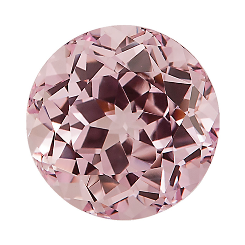 """Champagne Pink"" Lab Created Sapphire - Round"
