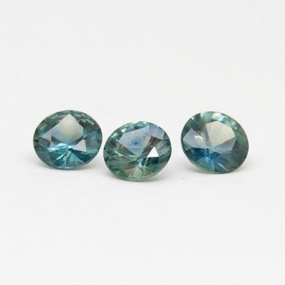 "5.0mm ""Medium Teal"" Montana Sapphires"