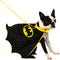 Batman Cape with Light Up Collar and Lead Pet Costume - kostumed