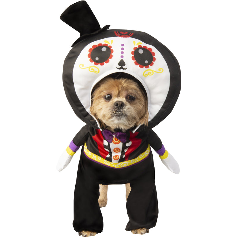 Walking Day Of The Dead Suit Pet Costume - kostumed