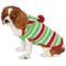 Candy Striped Christmas Pet Sweater - kostumed