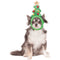 Christmas Tree Light Up Pet Headband - kostumed