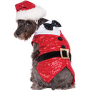 Red Sequin Santa Vest & Bowtie Pet Costume - kostumed
