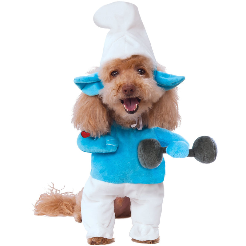 Hefty Smurf Pet Costume - kostumed