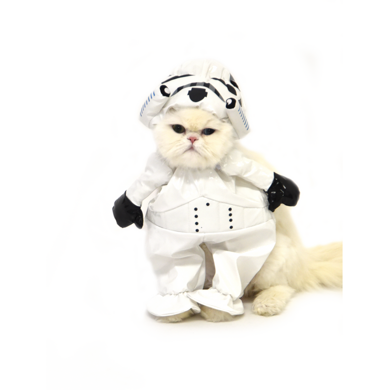 Stormtrooper Star Wars Walking Cat Costume - kostumed