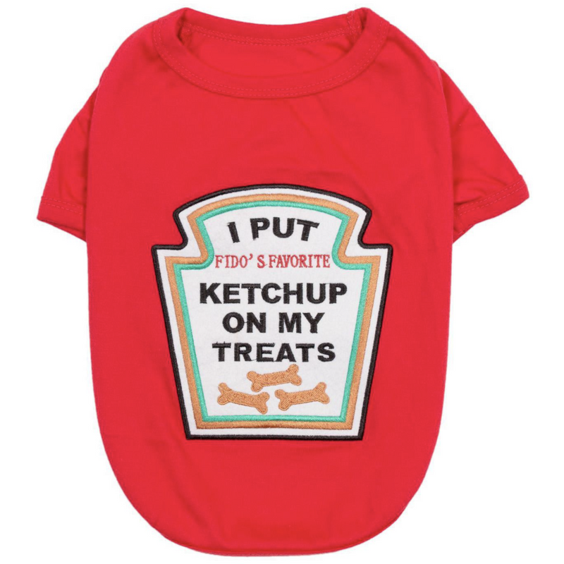 Ketchup Pet Shirt Costume - kostumed