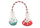 Science Beakers Dog Toy - kostumed