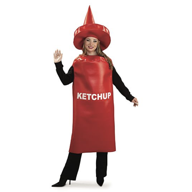 Ketchup Bottle Adult Costume - kostumed