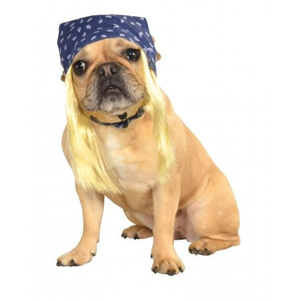 Bandana With Hair Pet Costume - kostumed