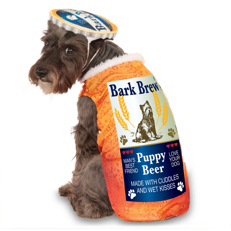 Bark Brew Beer Bottle Pet Costume - kostumed