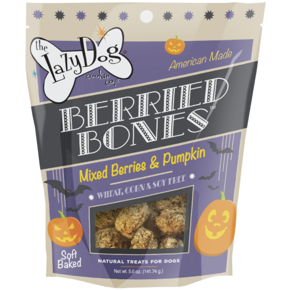 Berried Bones Dog Treats by Lazy Dog - 5oz Bag - kostumed