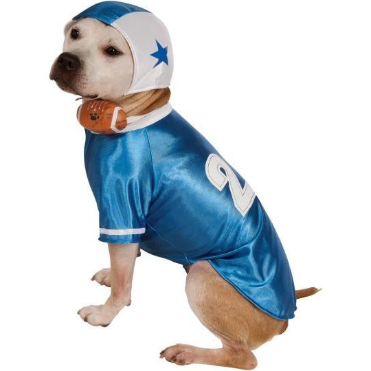 Blue Football Player Pet Costume - kostumed
