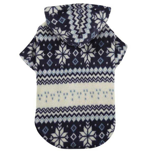 Blue Snowdrift Cuddler Pet Sweater - kostumed