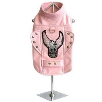 Born To Ride Motorcycle Harness  Pet Jacket - Pink - kostumed