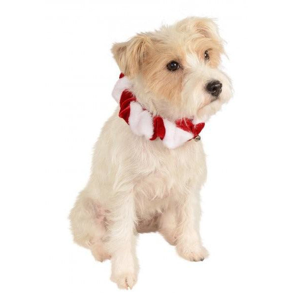 Candy Cane Bell Pet Christmas Collar - kostumed