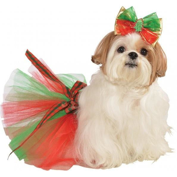 Christmas Tree Pet Hair Bow - kostumed