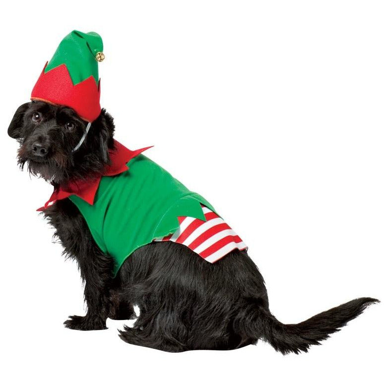 Big Dog Elf Christmas Pet Costume - kostumed