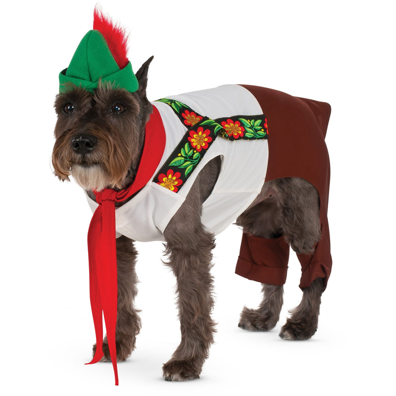 Lederhosen Hound Pet Costume - kostumed
