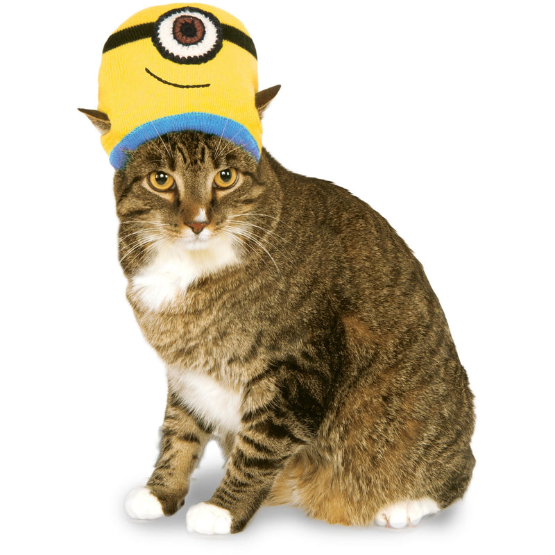 Minion Stuart Knit Hat Cat Costume - kostumed