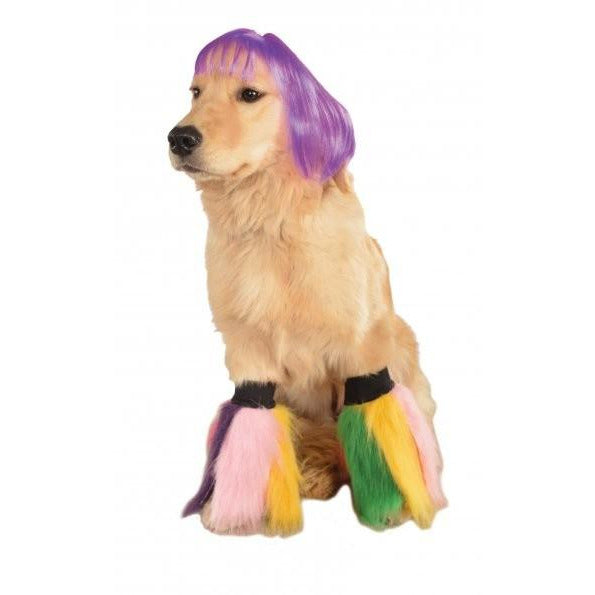 Purple Short Bob Pet Wig - kostumed