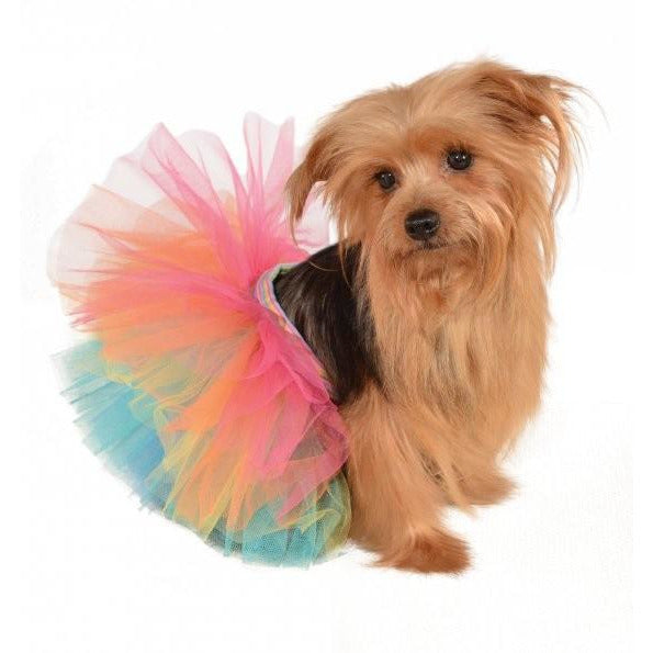 Rainbow Tutu Dog Costume - kostumed