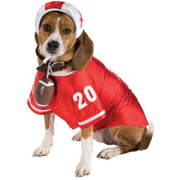 Red Football Player Pet Costume - kostumed