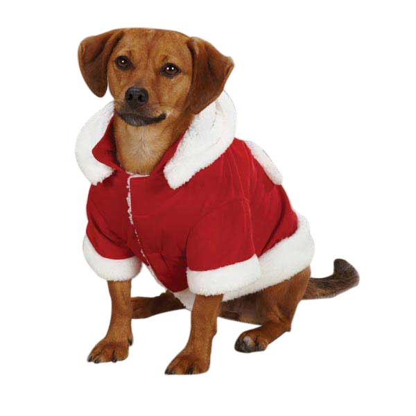 Red Jolly Jacket Pet Christmas Costume - kostumed