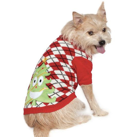 Christmas Tree Ugly Pet Sweater - kostumed