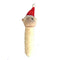 Santa Monkey Stick Christmas Dog Toy - kostumed