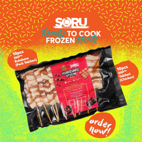 READY TO COOK FROZEN PACKS -CHICKEN YAKITORI (10PCS)