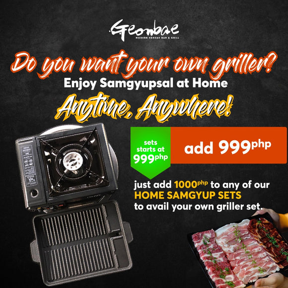 GRILLER SET (now for only P999!)