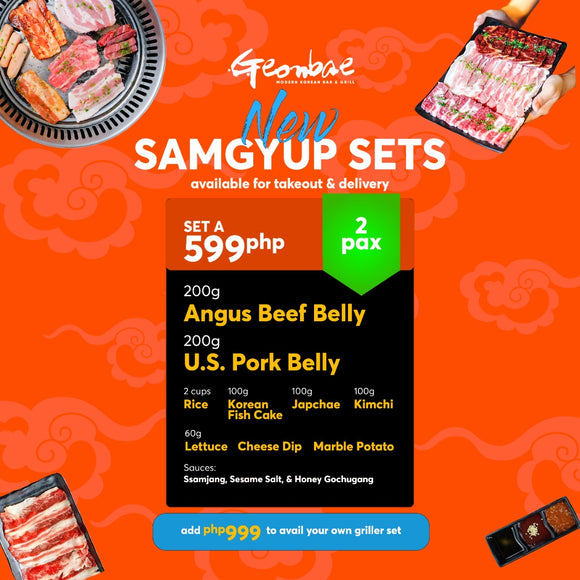 NEW! BASIC HOME SAMGYUP SET FOR 2 PAX