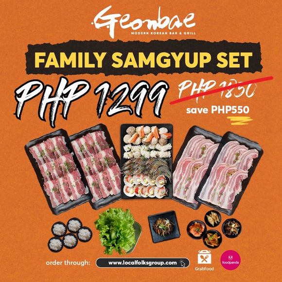 NEW! FAMILY SAMGYUP SET