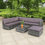 Formentor XL Rattan Corner Modular Garden Furniture Sofa Set | Grey