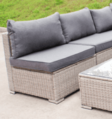 Menorca XL Rattan Corner Modular Garden Furniture Sofa Set | White Wash