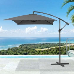 Nova - 4 Colours  Barbados Cantilever Parasol - 3m x 2m Rectangular - Accessories -