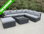 Santa Ponsa Rattan Corner garden furniture sofa set