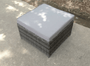 Add on Rattan Big Footstool  grey