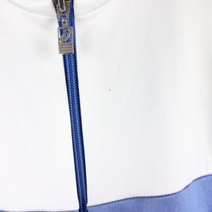 Vintage 90s ASICS Track Top Jacket Blue | Small