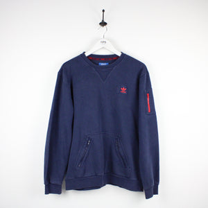 ADIDAS Sweatshirt Navy Blue | Medium