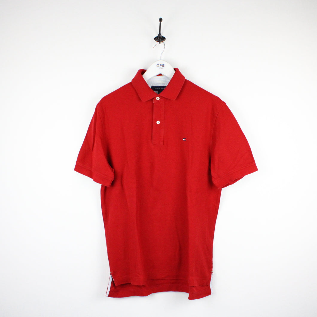 TOMMY HILFIGER Polo Shirt Red | Medium