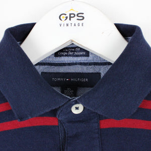 TOMMY HILFIGER Polo Shirt Navy Blue | XS
