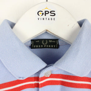 Womens FRED PERRY Polo Shirt Blue | XS