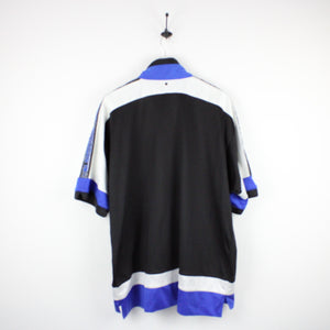 Vintage 90s CHAMPION USA Track Top Black | XL