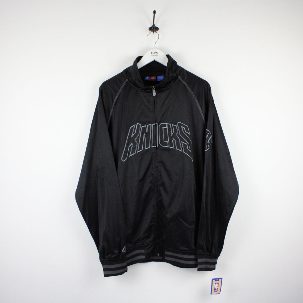 MAJESTIC New York KNICKS Track Top Black | XXL